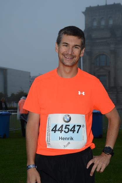 Berlin Marathon before the start